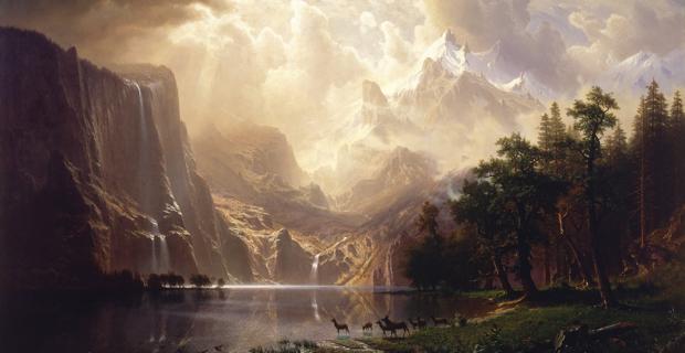 Albert-Bierstadt-Among-the-Sierra-Nevada-California-American-landscape